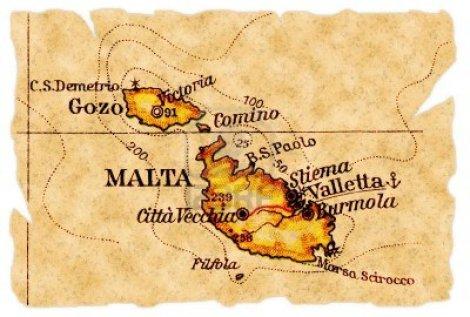 mapa malta 1949